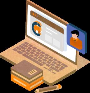 chooter platform on a laptop icon